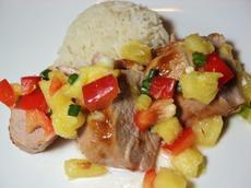 Pork Tenderloin With Fresh Pineapple Salsa