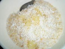 Pina Colada Oatmeal (Porridge) Low Fat