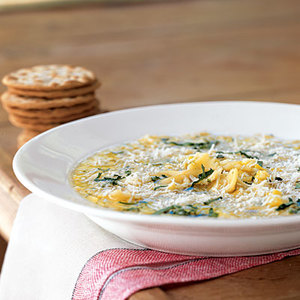 Summer Squash Soup with Pasta and Parmesan | Bottomless Bites