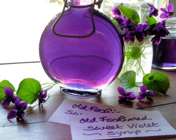 Traditional Sweet Violet Syrup