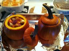 Roasted Harvest Vegetables in a Baked Pumpkin