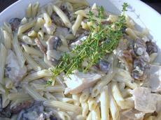 White Wine and Garlic Mushroom Cream Sauce