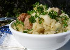 Main Dish Colcannon (Cabbage, Potatoes and Sausages)