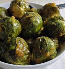 Garlic and Mustard Roasted Brussel Sprouts