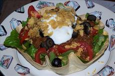 Taco Salad Tortilla Bowl