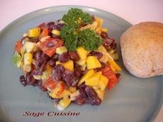 Black Bean,mango and Avocado Salsa Salad