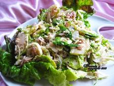 Brussels Sprout Salad With Walnuts
