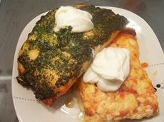 Cilantro Salmon With Smoky Tomato-Habanero Lasagna