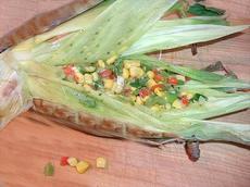 Aztec Corn BBQ'd in Husks