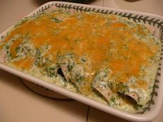 Jalapenos' Spinach Enchiladas