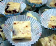 Almond White Chocolate Fudge