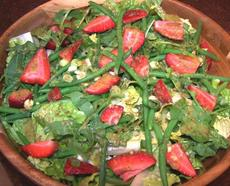 Spring Salad With a Really Cool Dressing!
