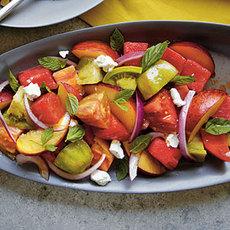 Heirloom Tomato, White Peach, and Ricotta Salata Salad | Bottomless ...