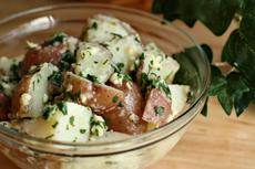 New Potatoes With Garlic, Mint and Butter
