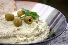 Coriander and Green Olive Hummus Recipe