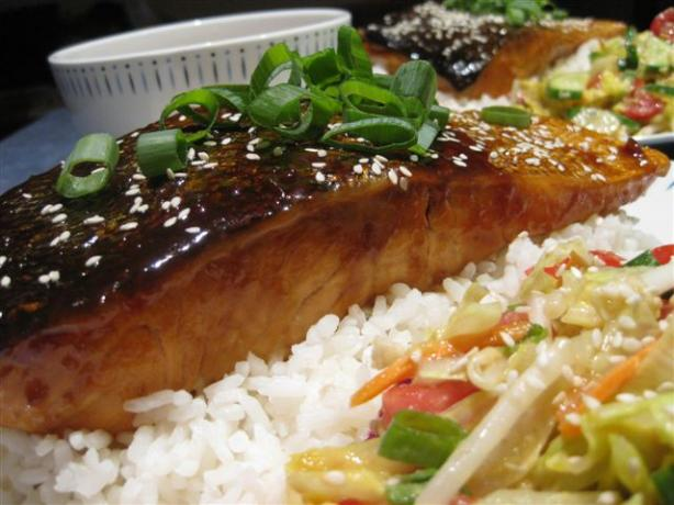 Honey Ginger Teriyaki Salmon