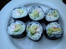 California and Maki Rolls (Japanese Sushi)