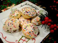 Italian Anise Cookies With Icing and Sprinkles