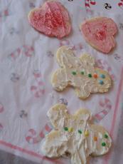 White Velvet Cutout Cookies