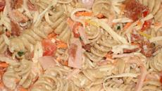 Turkey, Bacon Pasta Salad With Lemon Basil Dressing