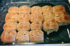 Hot Cross Buns - Bread Machine