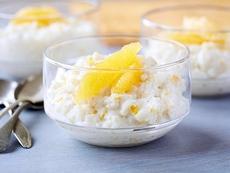 Rice Pudding with Vanilla Bean, Orange and Rum