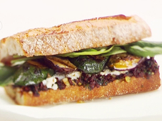 Grilled Vegetable, Herb and Goat Cheese Sandwiches
