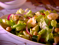Garbanzo Bean and Zucchini Salad