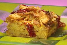 PB and J Bread Crust Pudding