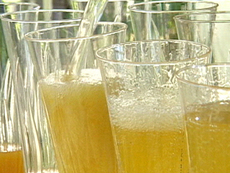 Killer Mango Champagne Cocktail