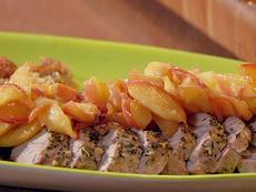 Uptown Pork Chops and Apple Sauce: Roast Pork Tenderloins with Escalloped Apples