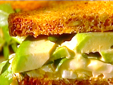 Egg Salad Sandwich with Avocado and Watercress