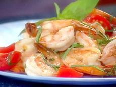 Shrimp with Basil, Garlic, and Tomatoes
