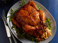 Roast Chicken With Apricot Stuffing