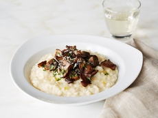 Risotto with Wild Mushrooms, Pine Nuts and Parsley