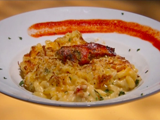 Vegas style Mac 'N' Cheese with Grilled Lobster