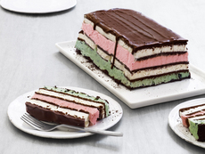 Neapolitan Ice Cream Sandwich Cake
