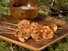 Grilled Shrimp with Garlic Mayo