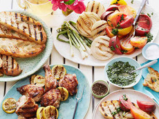 Grilled Chicken with Charred Lemon and Heirloom Tomatoes