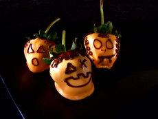 Strawberry Jack-O-Lanterns