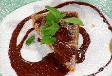 Walnut Tart with Chocolate Drizzles