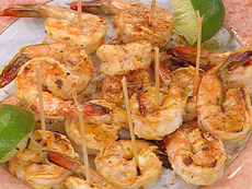 Thai Marinated, Skewered and Grilled Jumbo Shrimp