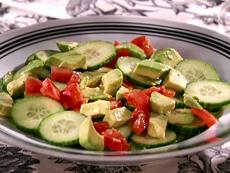 Cucumber-Tomato-Avocado Salad with Tequila-Lime Vinaigrette