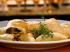 Wild Mushroom Turnovers with Romano Cheese