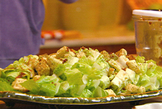 Romaine Hearts with Croutons and Coarse Mustard Vinaigrette