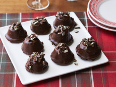 Chocolate Mint Brownie Bites