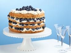 Billie's Italian Cream Cake with Blueberries
