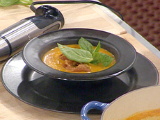 Creole Style Tomato Soup with Goat Cheese Dumplings