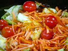 "Iceberg Lettuce Salad with Tangy Tomato-Tarragon ""French"" Dressing"