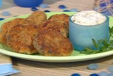 Mini Fishcakes with Dijon Caper Mayonnaise